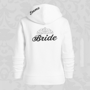 Bridal Party Glitter Crown Hoodie